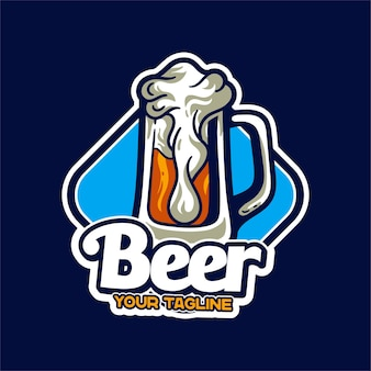 Bier maskottchen logo charakter