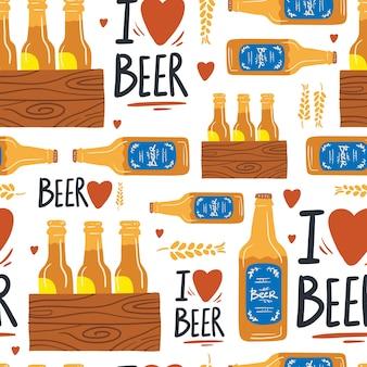 Bier nahtloses muster