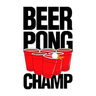 Bier pong champ