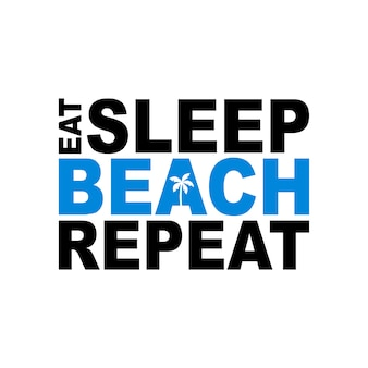 Bier schlaf strand wiederholen symbol zeichen vektor