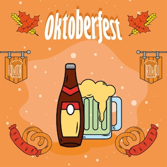 Bier und essensmuster