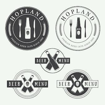 Bier und pub-logos