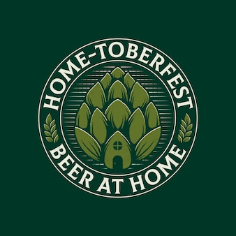Bier zu hause emblem logo