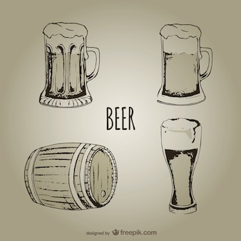 Bierbecher und gläser