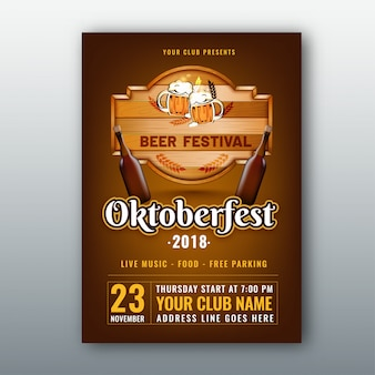 Bierfest, oktoberfest-flyer.