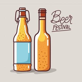 Bierflaschen des festivals