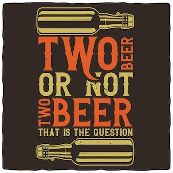 Bierflaschen und schriftzug