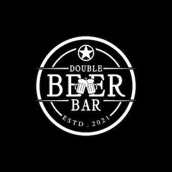 Biergetränk-logo-stempel-logo-design