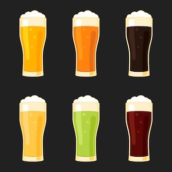 Biergläser verschiedene arten