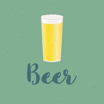 Bierglas isoliert. vektorikone mit alkoholischen getränken... weizenbier, lager, craft beer, ale.