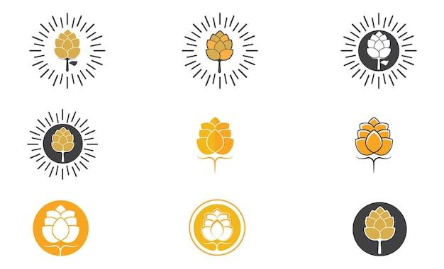 Bierlogo und symbolvektorbild