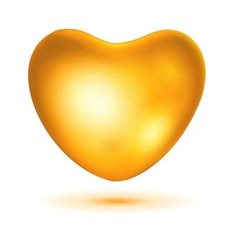 Biete goldenes herz mit blendung und schatten