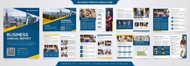 Bifold broschüre vorlage premium