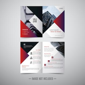 Bifold broschüre vorlage
