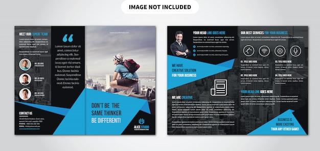 Bifold broschüren vorlage