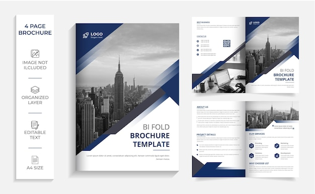 Bifold-broschürenvorlage für moderne unternehmen
