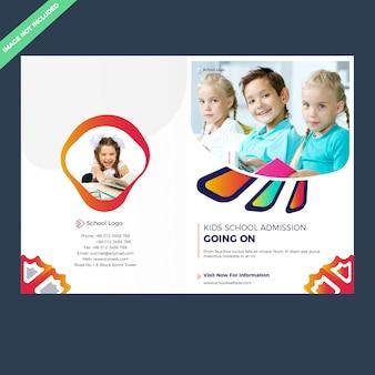 Bifold schulzulassung broschürenvorlage