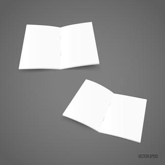Bifold weißes schablonenpapier. vektor-illustration