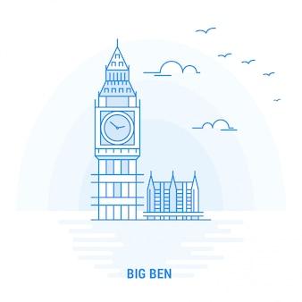 Big ben blue wahrzeichen