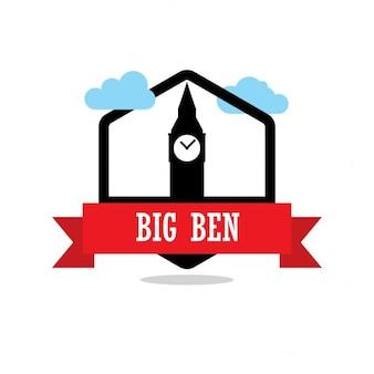 Big ben ribbon-label