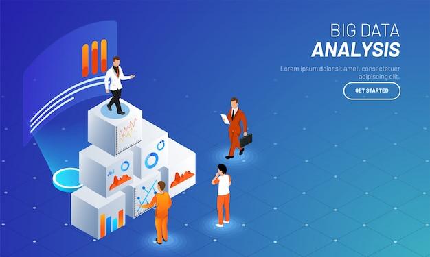 Big data analyse web template design.