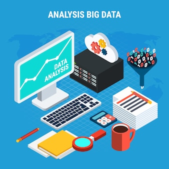 Big data analysis isometric