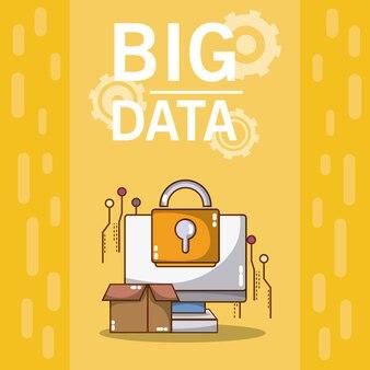 Big Data Computer mit Sicherheitssystem