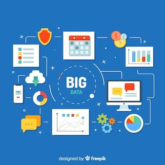 Big data hintergrund konzept