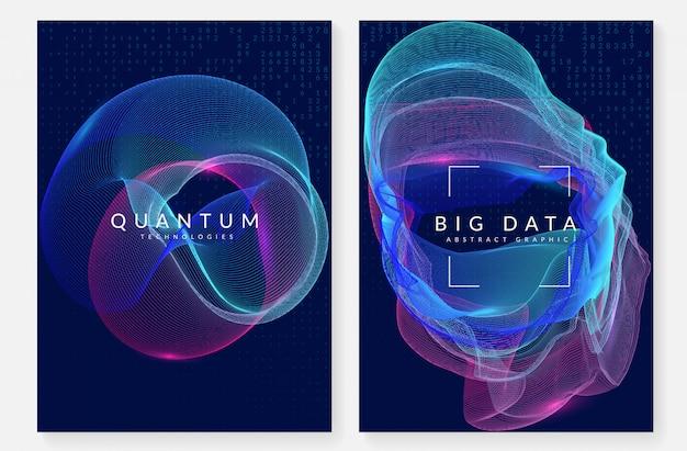 Big data hintergrund. technologie zur visualisierung, künstlich in