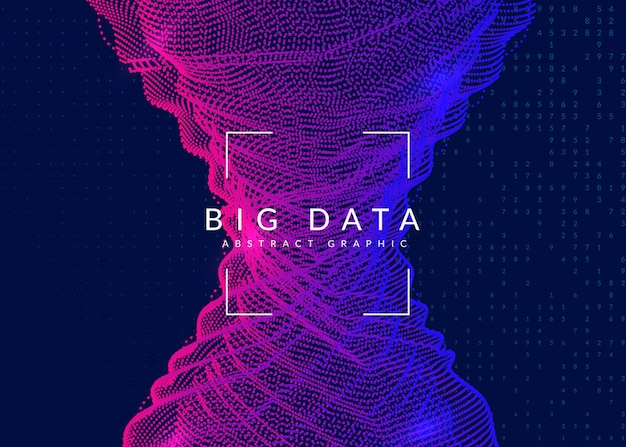 Big data hintergrund. technologie zur visualisierung