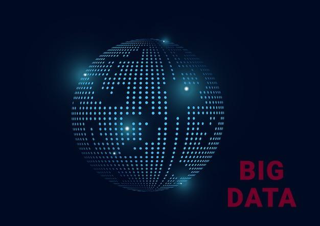 Big data information planet erde