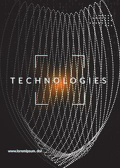 Big-data-konzept. abstrakter hintergrund der digitaltechnik. künstliche intelligenz und deep learning. tech-visual für kommunikationsvorlage. hintergrund des partiellen big-data-konzepts.
