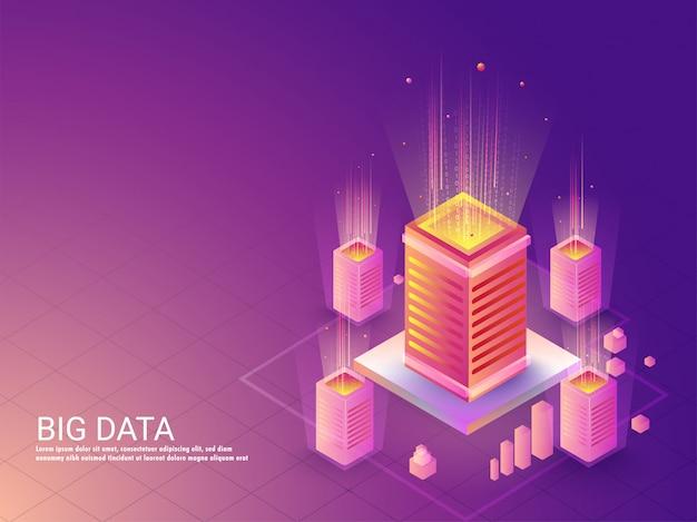 Big data-konzept basierte zielseite.
