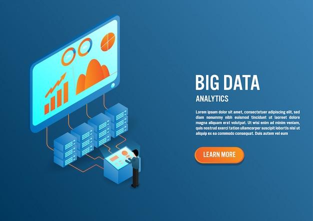 Big data-konzept im isometrischen design