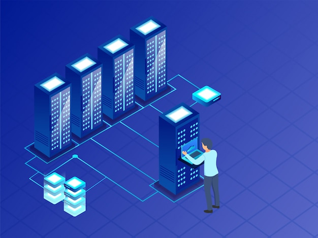 Big data-konzept.