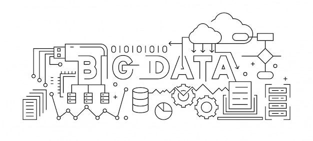 Big data line art design