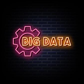 Big data logo leuchtreklamen