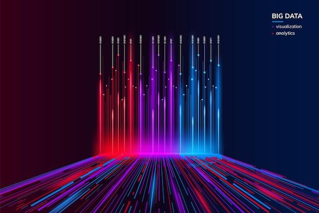 Big data- oder bigdata-visualisierungshintergrund