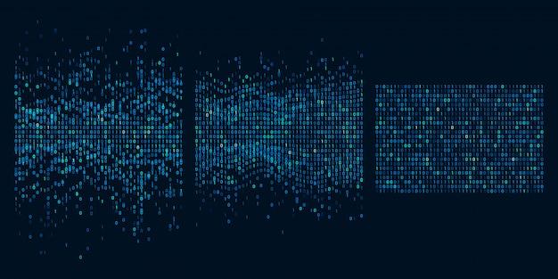 Big data-sortierung. illustration von informationsanalysealgorithmen, maschinellem lernen und auswahl von intelligenzdaten