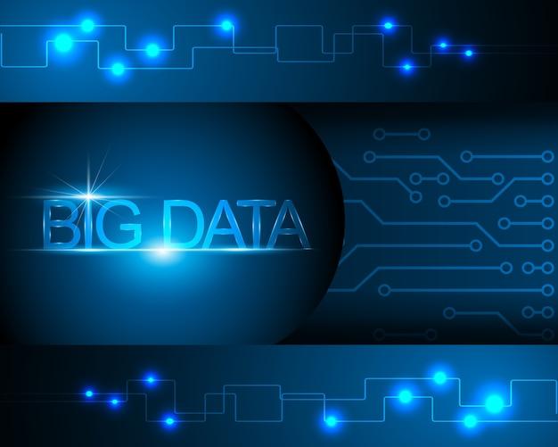 Big data transfer informationskonzept