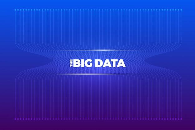 Big data visualisierung. analyse der komplexität visueller daten. konzept infografik. grafische darstellung der informationszeile. abstrakter datengraph. illustration