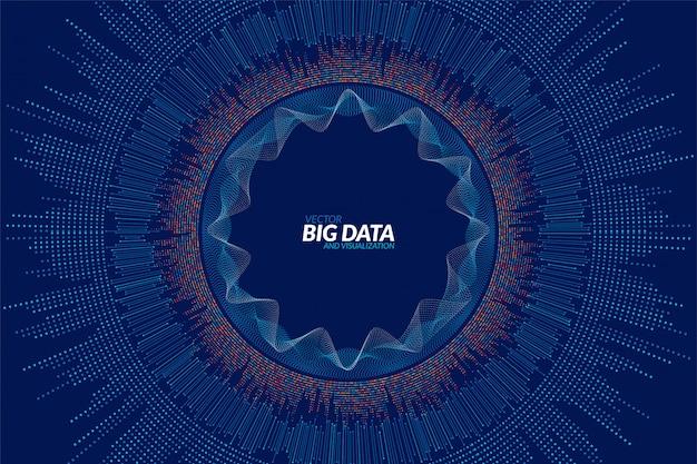Big data visualisierung. futuristische infografik. informationsästhetisches design