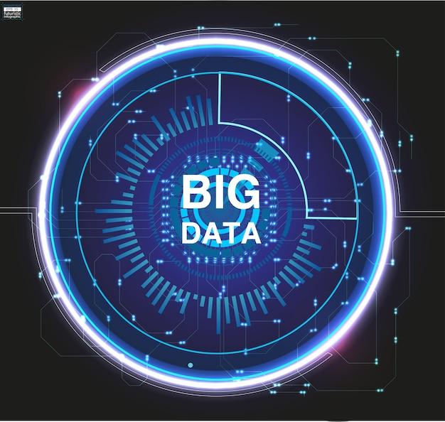 Big data-visualisierung. grafischer abstrakter hintergrund. illustration. datenvisuales konzept.