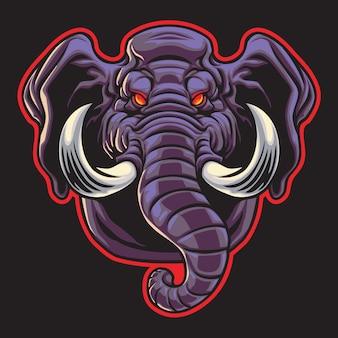 Big elephant esport logo illustration