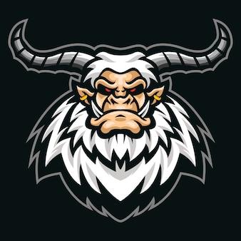 Big horn yetti esport logo illustration