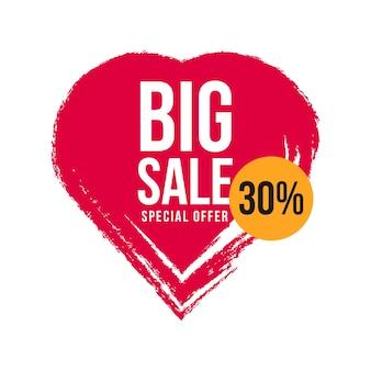 Big sale 30% sonderangebot vorlage