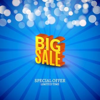 Big sale 3d buchstaben poster. werbemarketing verkaufsplakat