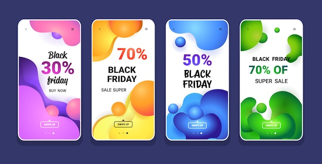 Big sale black friday liquid color collection sonderangebot promo marketing urlaub shopping
