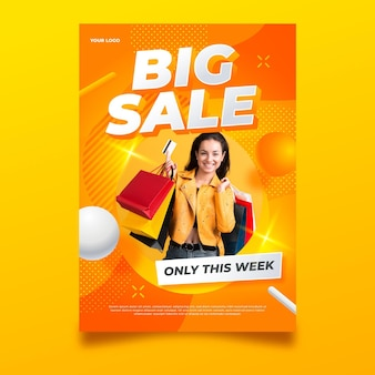 Big sale flyer vorlage