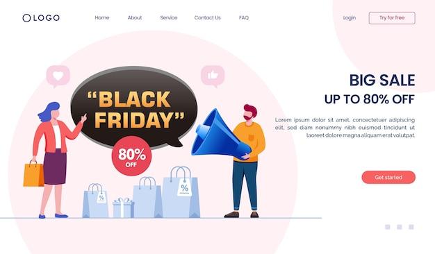 Big sale landing page website
